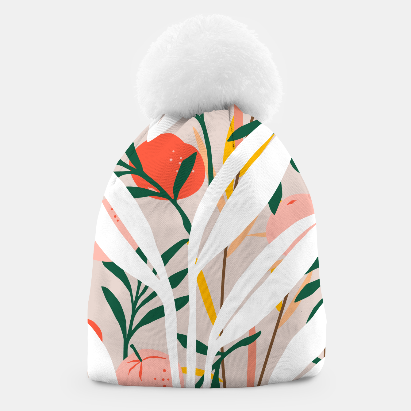Image of Abstract Plant Blush  Beanie - Live Heroes
