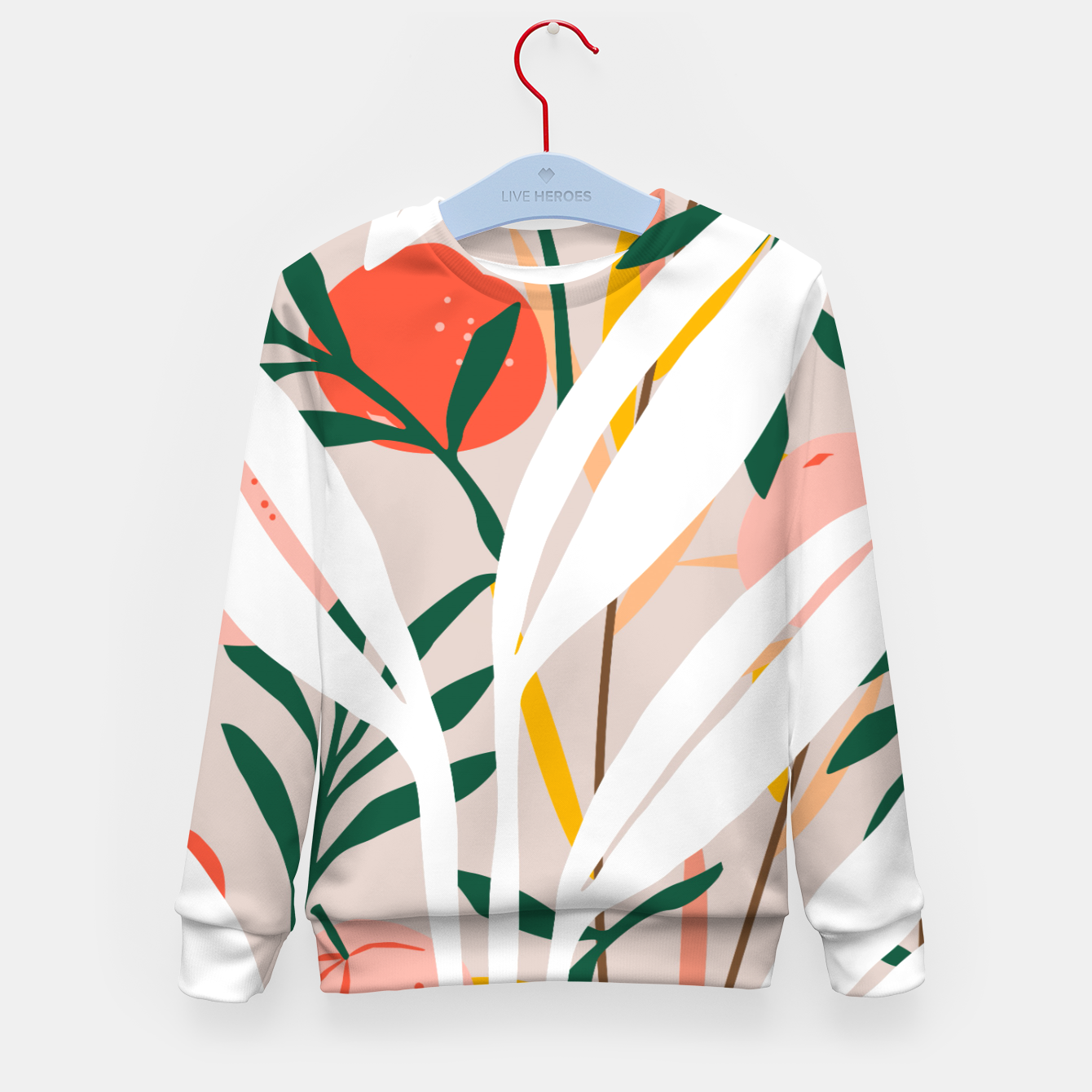Image of Abstract Plant Blush  Kid's sweater - Live Heroes