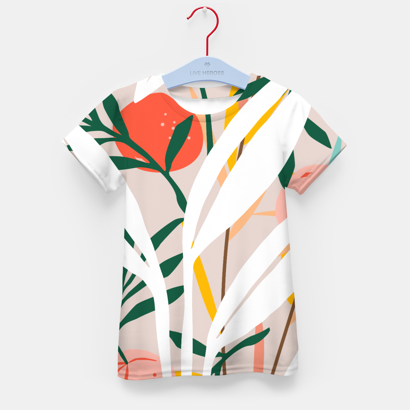 Image of Abstract Plant Blush  Kid's t-shirt - Live Heroes