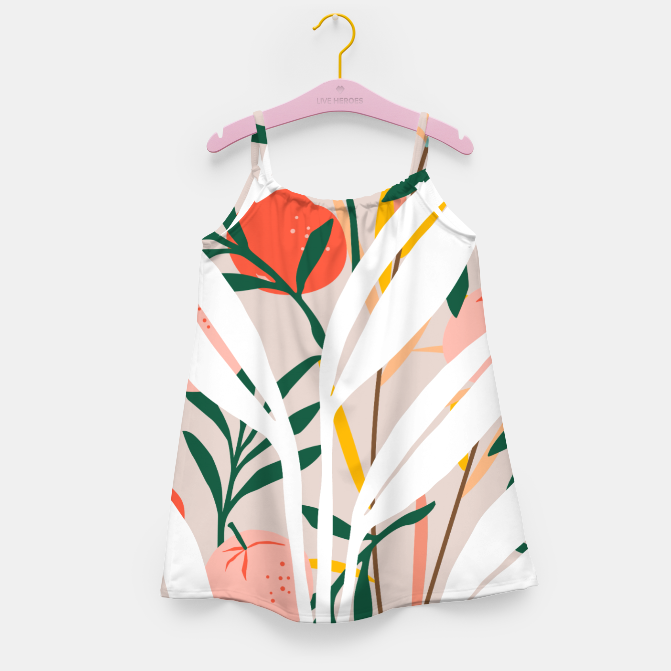 Image of Abstract Plant Blush  Girl's dress - Live Heroes