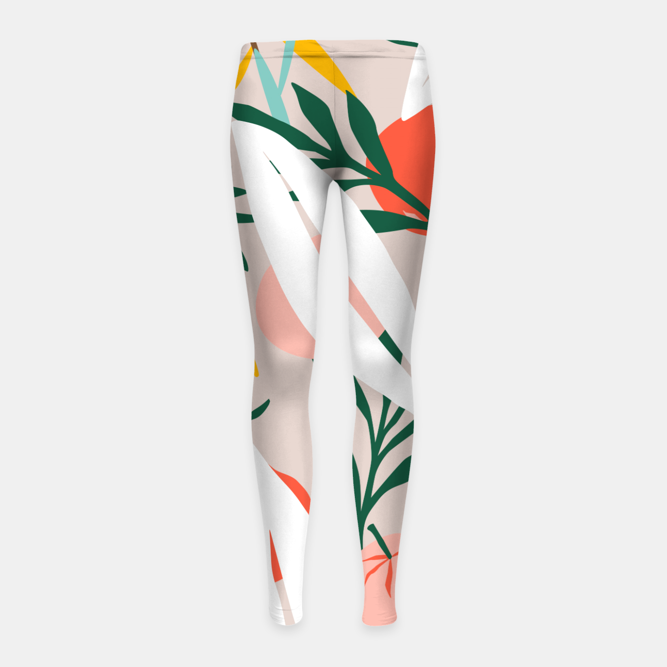 Image of Abstract Plant Blush  Girl's leggings - Live Heroes