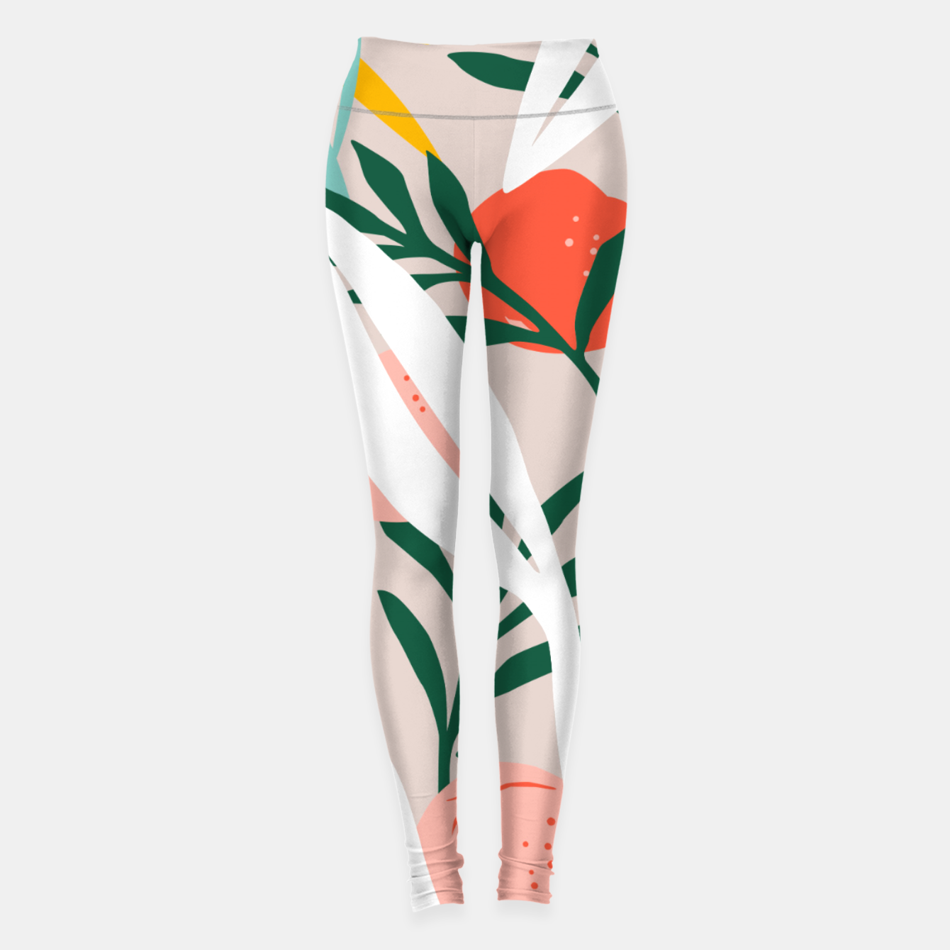 Image of Abstract Plant Blush  Leggings - Live Heroes