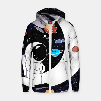 Thumbnail image of shoot for the stars Zip up hoodie, Live Heroes