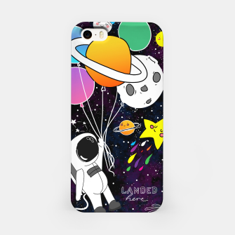 Thumbnail image of landed here  iPhone Case, Live Heroes