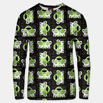 Thumbnail image of Tribal faces pattern Unisex sweater, Live Heroes