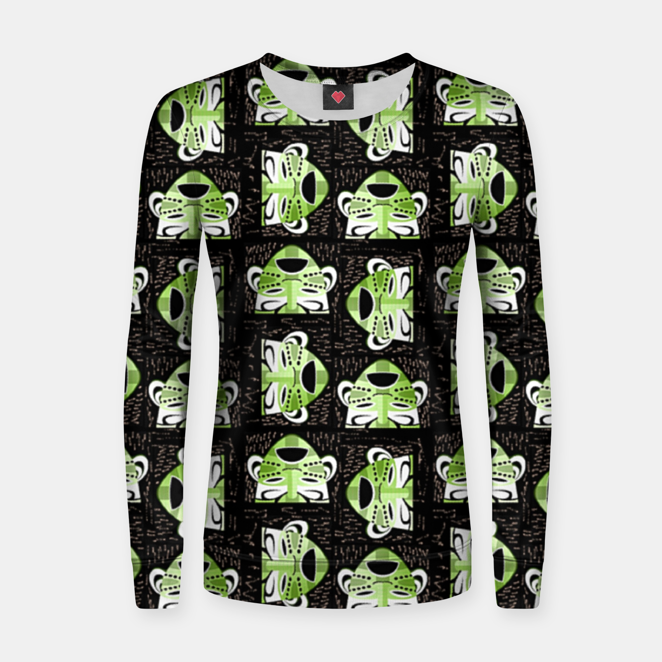 Image of Tribal faces pattern Women sweater - Live Heroes