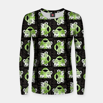 Thumbnail image of Tribal faces pattern Women sweater, Live Heroes