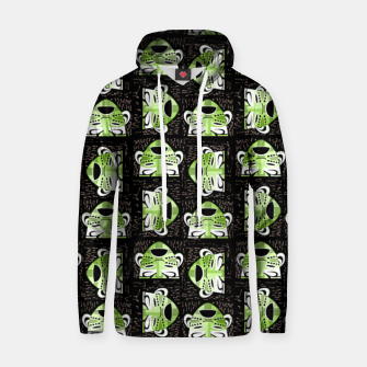 Thumbnail image of Tribal faces pattern Hoodie, Live Heroes