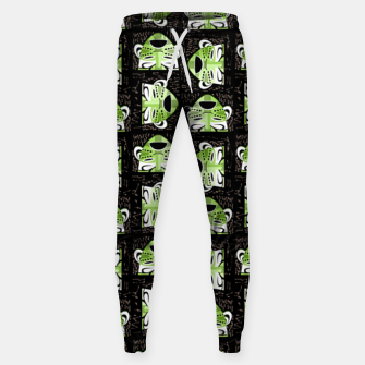 Thumbnail image of Tribal faces pattern Sweatpants, Live Heroes