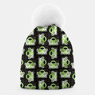 Thumbnail image of Tribal faces pattern Beanie, Live Heroes