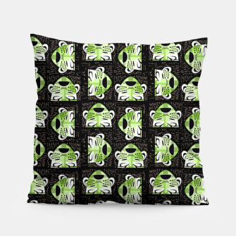 Thumbnail image of Tribal faces pattern Pillow, Live Heroes