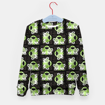 Thumbnail image of Tribal faces pattern Kid's sweater, Live Heroes