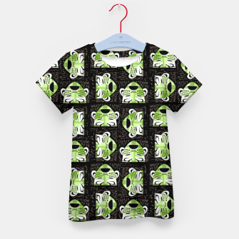 Thumbnail image of Tribal faces pattern Kid's t-shirt, Live Heroes
