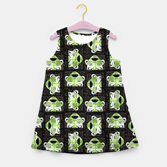 Thumbnail image of Tribal faces pattern Girl's summer dress, Live Heroes