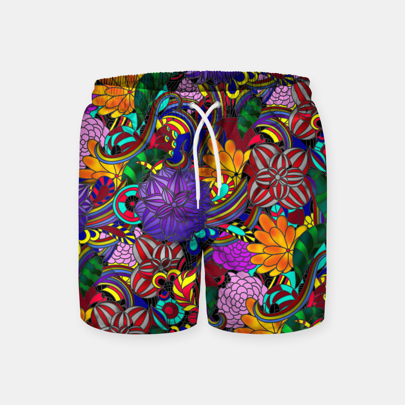 Image of Flowers and Rainbows Swim Shorts - Live Heroes
