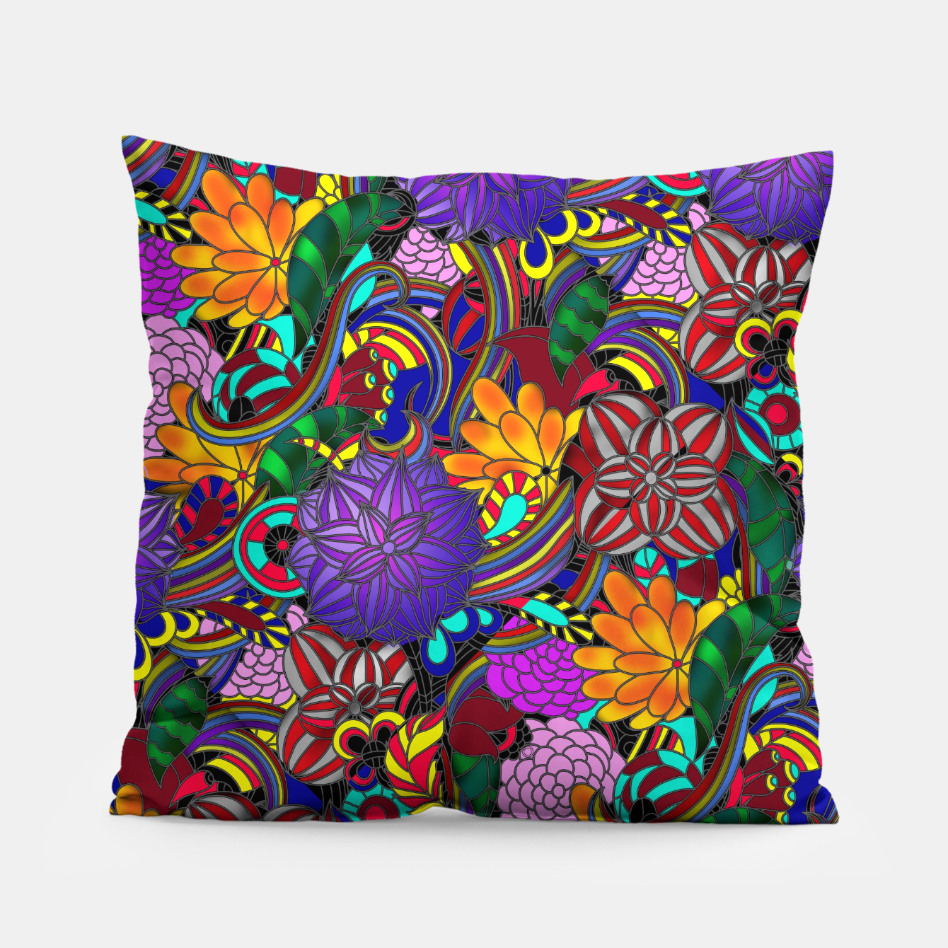 Image of Flowers and Rainbows Pillow - Live Heroes