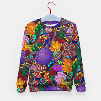 Thumbnail image of Flowers and Rainbows Kid's sweater, Live Heroes