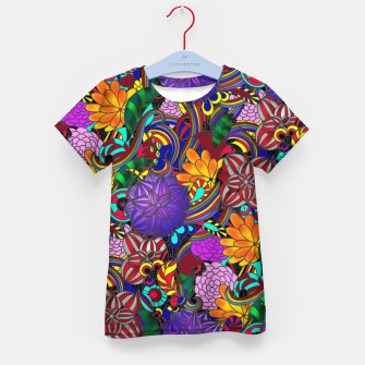 Thumbnail image of Flowers and Rainbows Kid's t-shirt, Live Heroes
