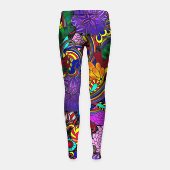 Thumbnail image of Flowers and Rainbows Girl's leggings, Live Heroes