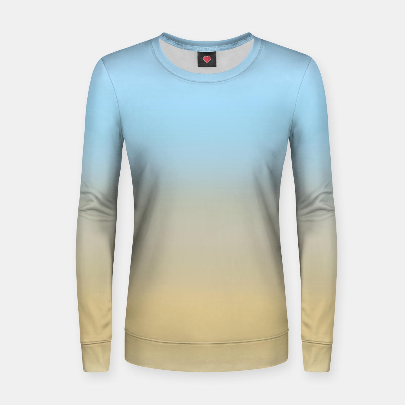 Image of Abstract ombre ocean beach Women sweater - Live Heroes