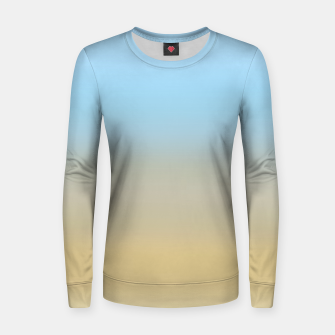 Thumbnail image of Abstract ombre ocean beach Women sweater, Live Heroes