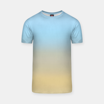Thumbnail image of Abstract ombre ocean beach T-shirt, Live Heroes