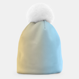 Thumbnail image of Abstract ombre ocean beach Beanie, Live Heroes