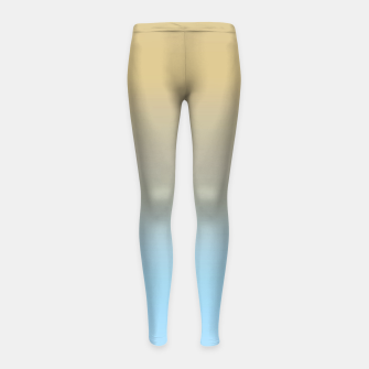 Thumbnail image of Abstract ombre ocean beach Girl's leggings, Live Heroes