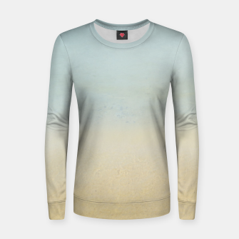 Thumbnail image of Abstract neutral ocean beach Women sweater, Live Heroes