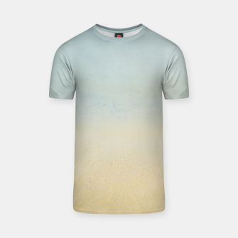 Thumbnail image of Abstract neutral ocean beach T-shirt, Live Heroes