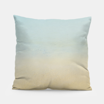 Thumbnail image of Abstract neutral ocean beach Pillow, Live Heroes