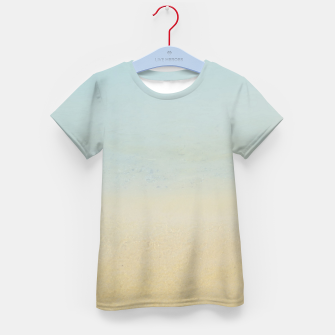 Thumbnail image of Abstract neutral ocean beach Kid's t-shirt, Live Heroes