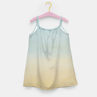Thumbnail image of Abstract neutral ocean beach Girl's dress, Live Heroes