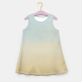Thumbnail image of Abstract neutral ocean beach Girl's summer dress, Live Heroes