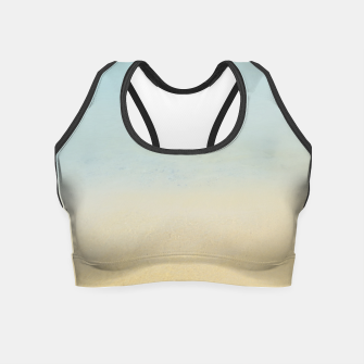 Thumbnail image of Abstract neutral ocean beach Crop Top, Live Heroes