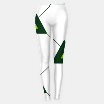 Miniaturka Green triangles connecting pattern Leggings, Live Heroes