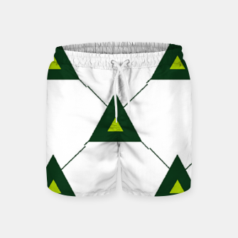 Miniatur Green triangles connecting pattern Swim Shorts, Live Heroes