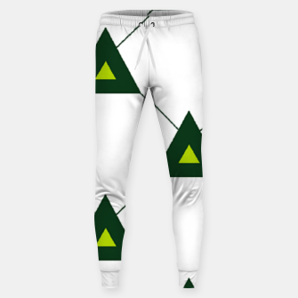 Miniatur Green triangles connecting pattern Sweatpants, Live Heroes
