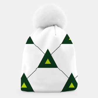 Thumbnail image of Green triangles connecting pattern Beanie, Live Heroes