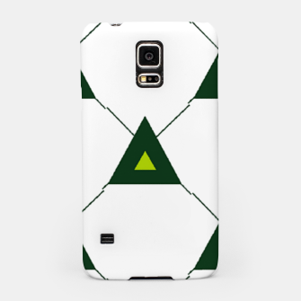 Thumbnail image of Green triangles connecting pattern Samsung Case, Live Heroes