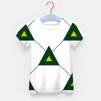 Thumbnail image of Green triangles connecting pattern Kid's t-shirt, Live Heroes