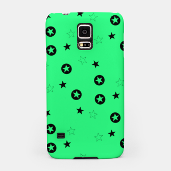 Thumbnail image of Black stars on green Samsung Case, Live Heroes