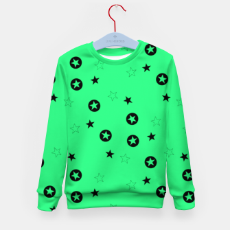 Thumbnail image of Black stars on green Kid's sweater, Live Heroes
