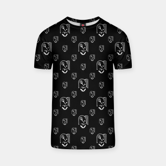 Thumbnail image of Funny Weird Monsters Motif Pattern T-shirt, Live Heroes