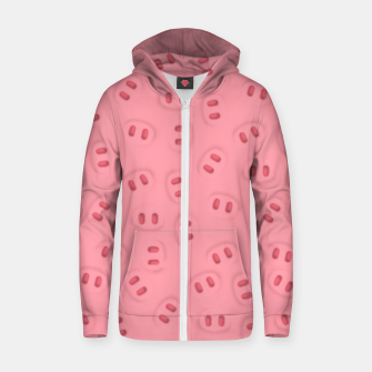 Thumbnail image of Rosa Nose Pattern  Zip up hoodie, Live Heroes