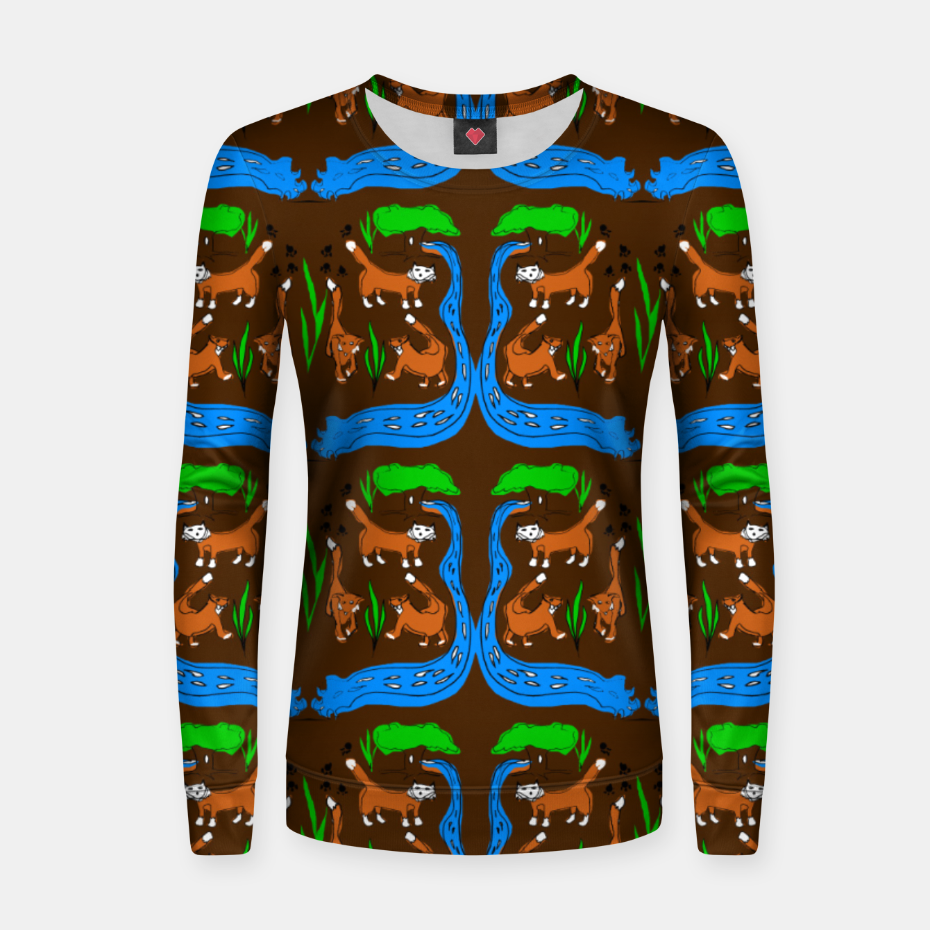 Image of Foxes Pattern Women sweater - Live Heroes