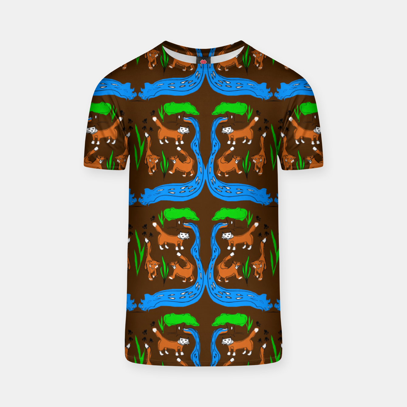 Image of Foxes Pattern T-shirt - Live Heroes