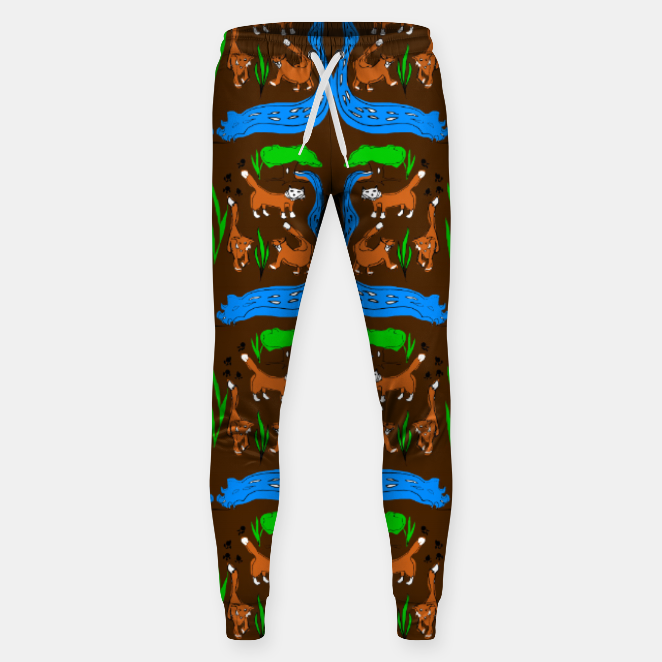 Image of Foxes Pattern Sweatpants - Live Heroes