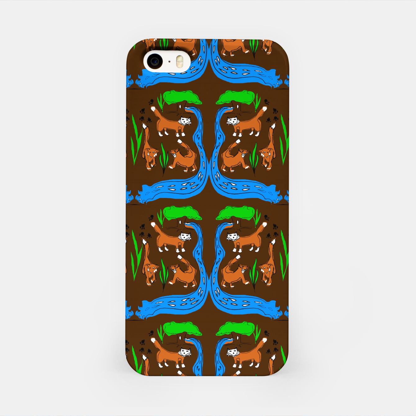 Image of Foxes Pattern iPhone Case - Live Heroes