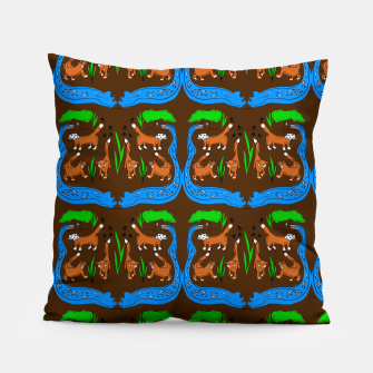 Thumbnail image of Foxes Pattern Pillow, Live Heroes